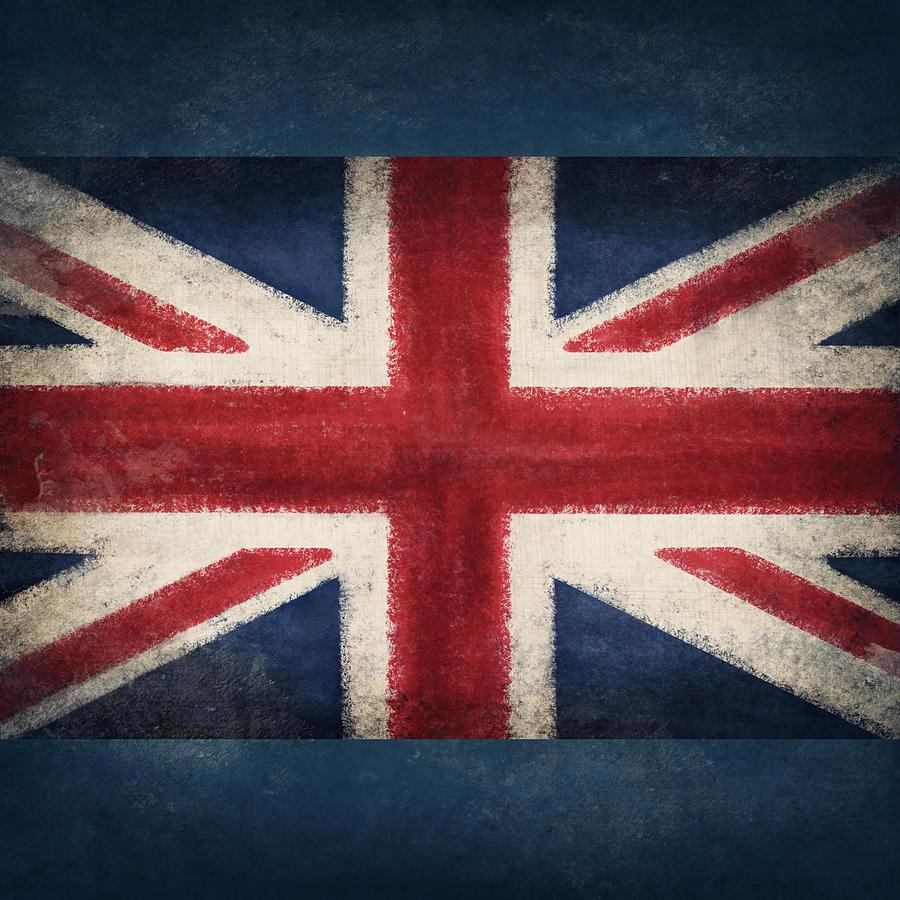 Abstract Photograph - England Flag by Setsiri Silapasuwanchai