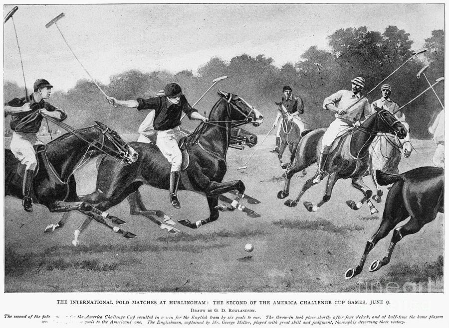 1902 Photograph - England: Polo, 1902 by Granger