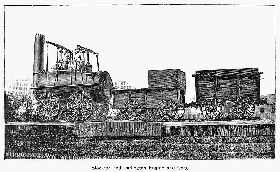 1825 Photograph - English Locomotive, 1825 by Granger