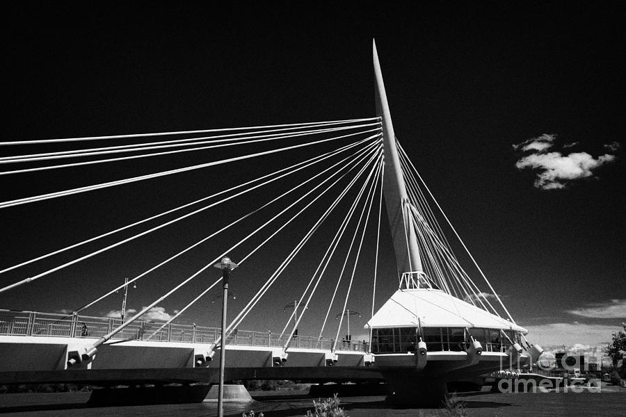 Esplanade Riel Pedestrian Bridge The Forks Winnipeg Manitoba Canada