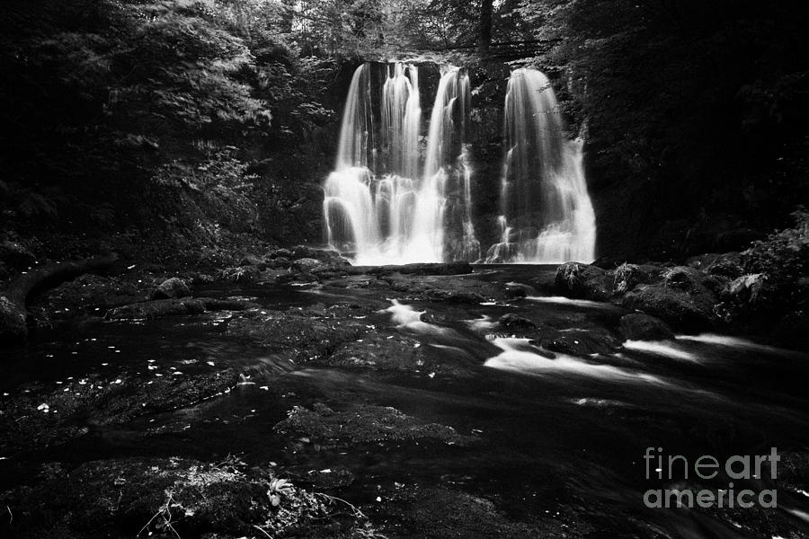 Ess-na-crub Photograph - Ess-na-crub Waterfall On The Inver River In Glenariff Forest Park County Antrim Northern Ireland Uk by Joe Fox