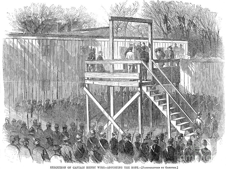 1865 Photograph - Execution Of Henry Wirz by Granger
