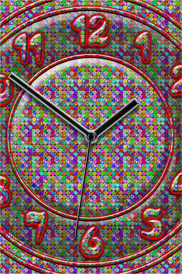 Large Colorful Art Digital Art - Faces Of Time 2 by Mike McGlothlen