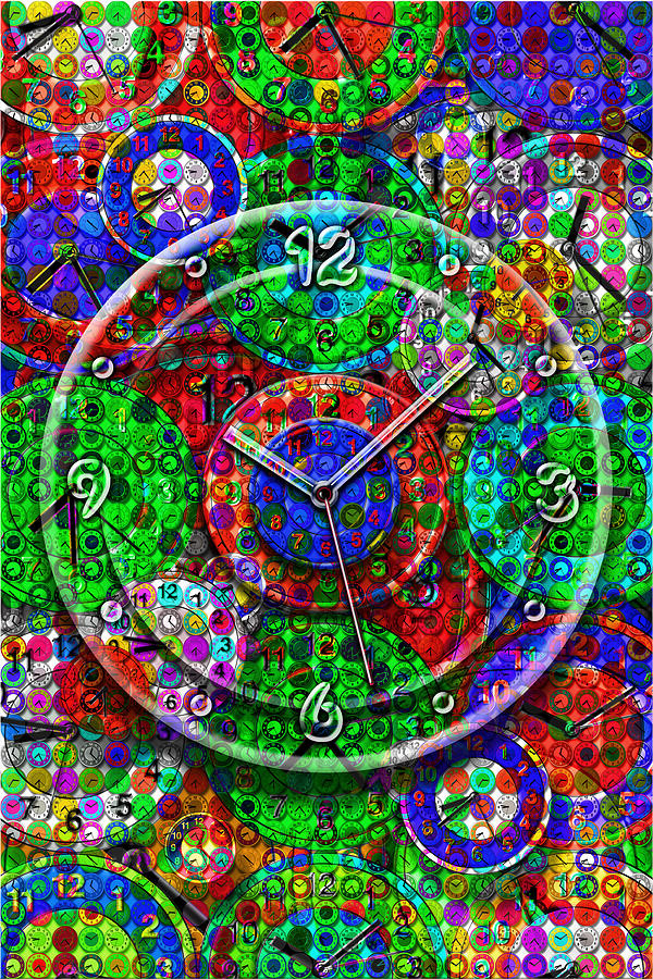 Wristwatches Digital Art - Faces Of Time 3 by Mike McGlothlen
