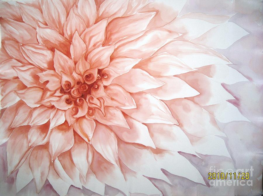 Peach Tapestry - Textile - Fade To Peach by Husna Rafath