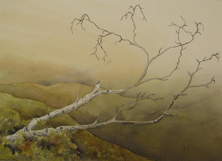 Birch Painting - Fallen by Ramona Kraemer-Dobson