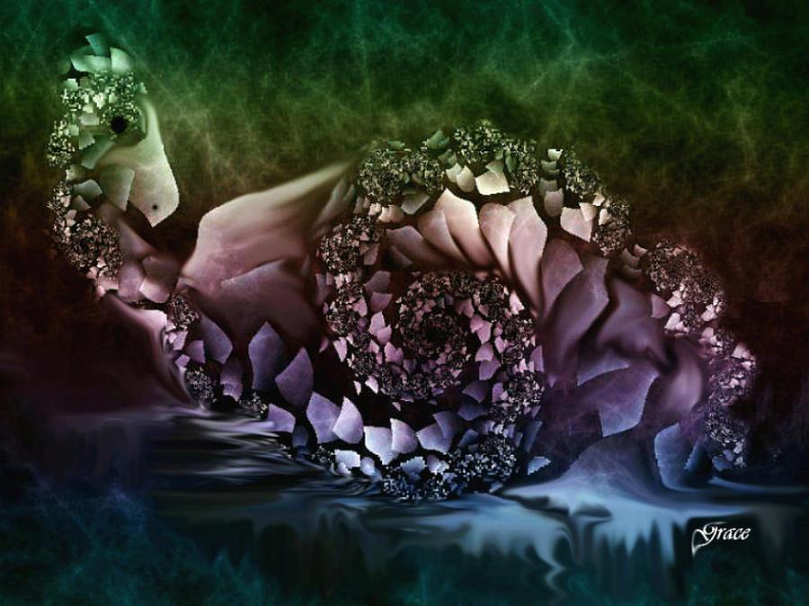 Fantasy Digital Art - Fantasy Bird by Julie Grace