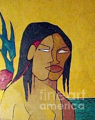 Faraway - Tahiti Painting - Faraway Tahiti by Geoffrey Mann