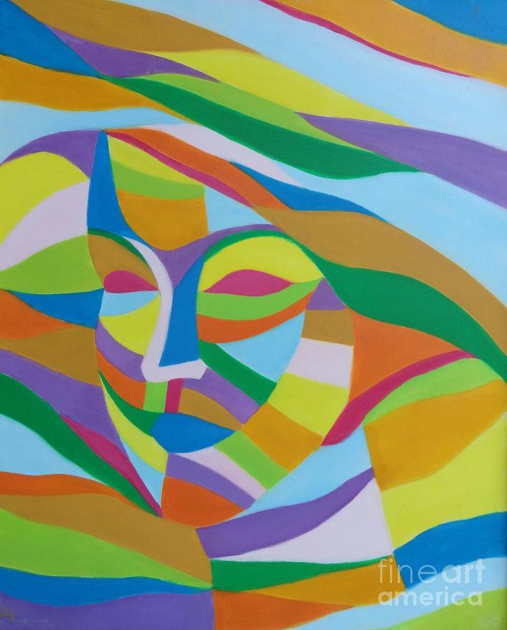 Woman Portrait Painting - Farzi  by Ziba Bastani