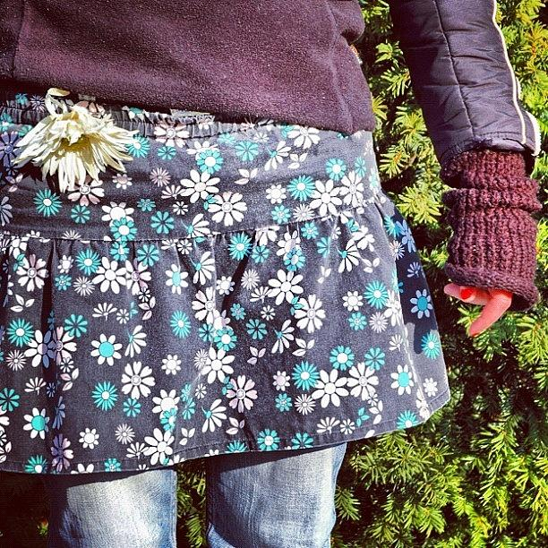 Cool Photograph - Fashion And Nature - Floral Skirt by Matthias Hauser