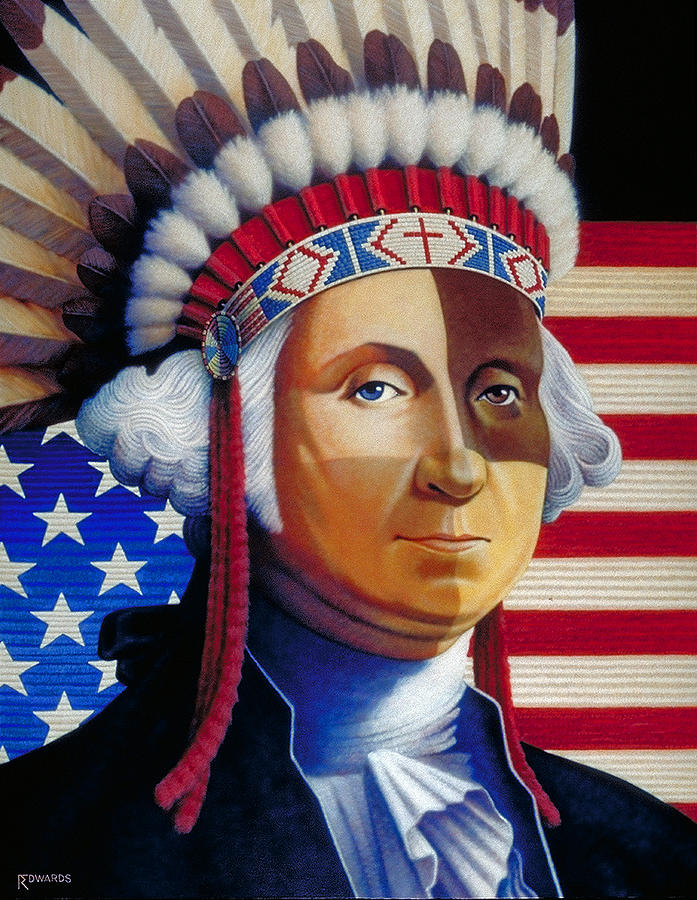 George Washington Painting - Father Of The Nation by Ross Edwards