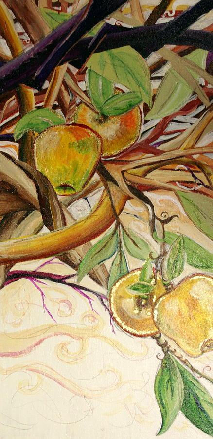 Apple Painting - Fifth World Two by Kate Fortin