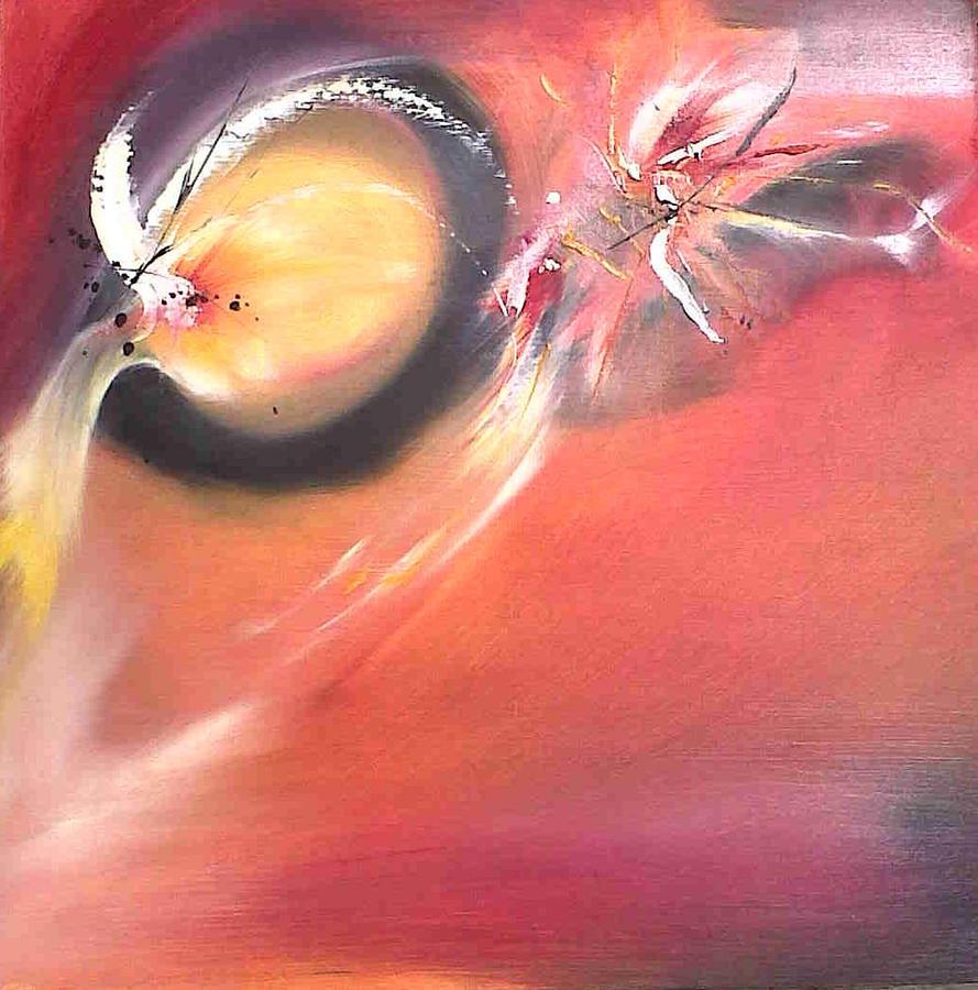 Fire Painting - Fireflies. by Paula Steffensen