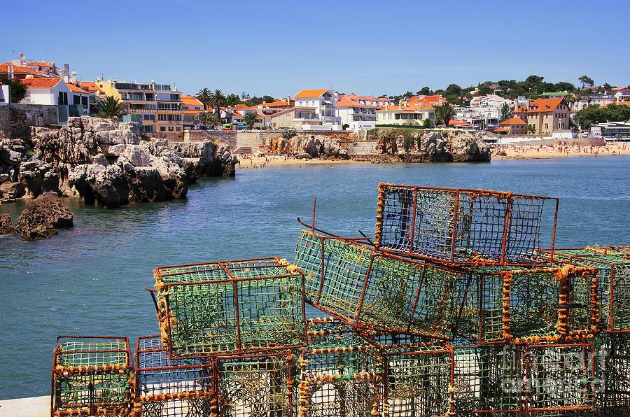 Anchored Photograph - Fishing Traps by Carlos Caetano