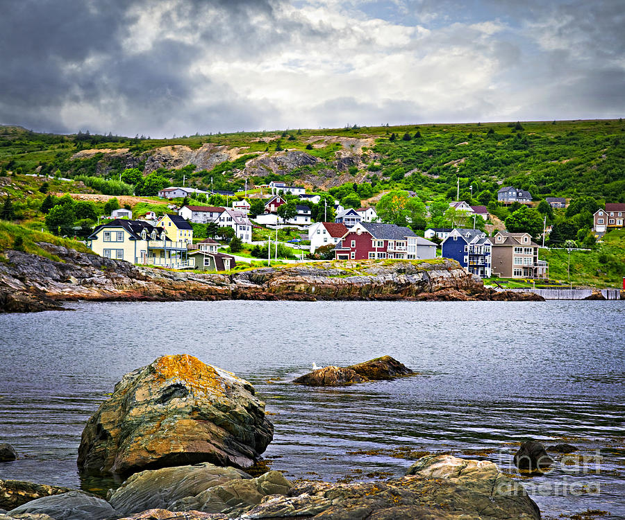 Fishing Photograph - Fishing Village In Newfoundland by Elena Elisseeva