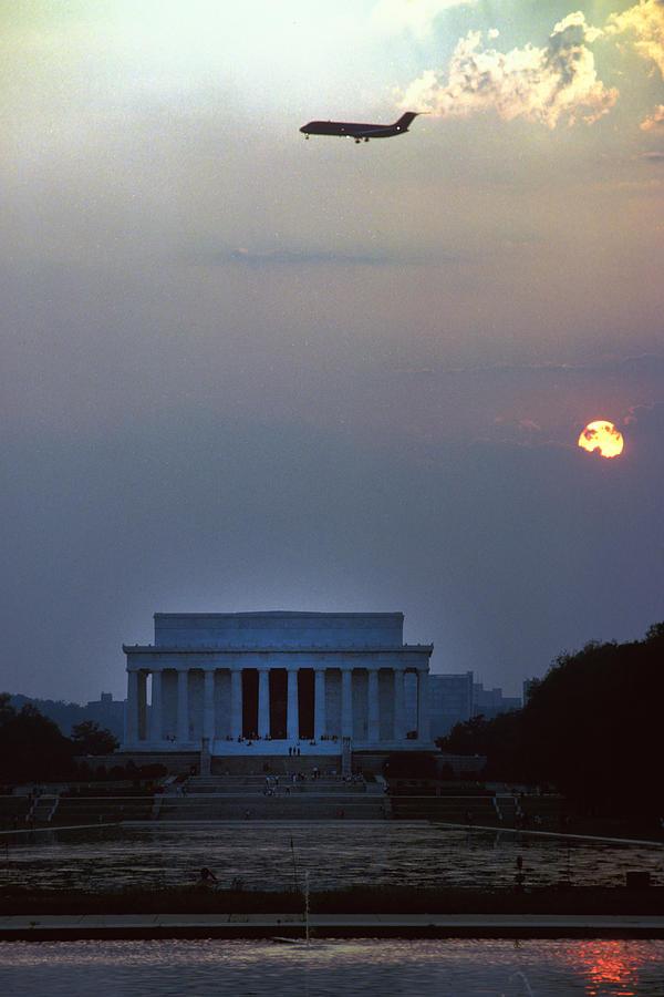 Flight Over Lincoln Memorial Photograph
