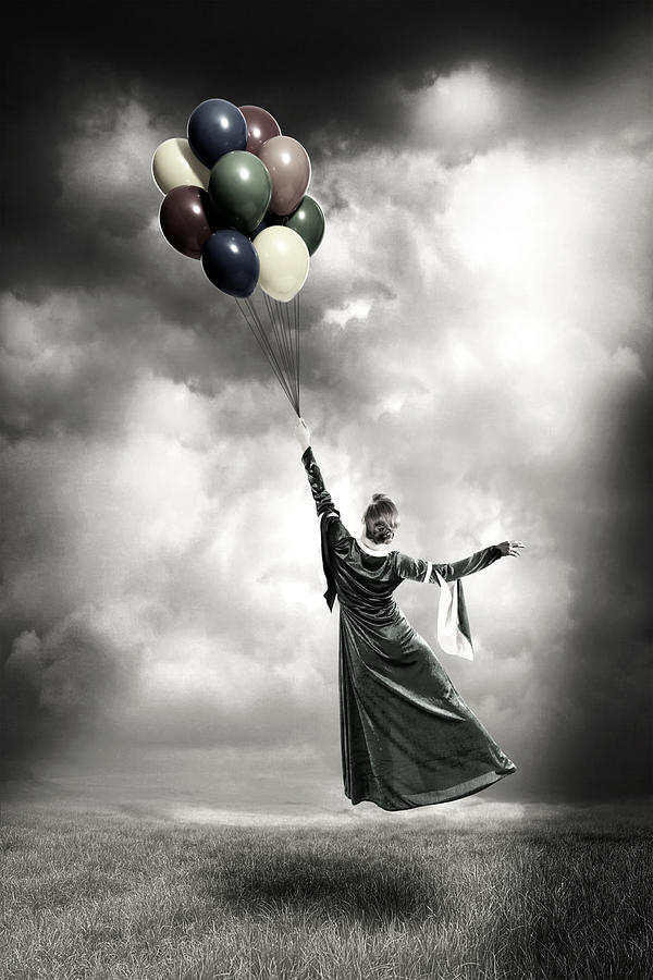 Female Photograph - Floating by Joana Kruse