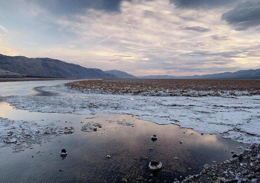 Salt Flat Photograph - Flooded Salt Flat by Bob Gibbons
