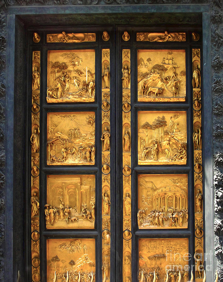 Florence Italy Photograph - Florence Italy - Baptistry Doors By Gregory Dyer & Florence Doors \u0026 South Doors (detail) By Andrea Pisano Pezcame.Com