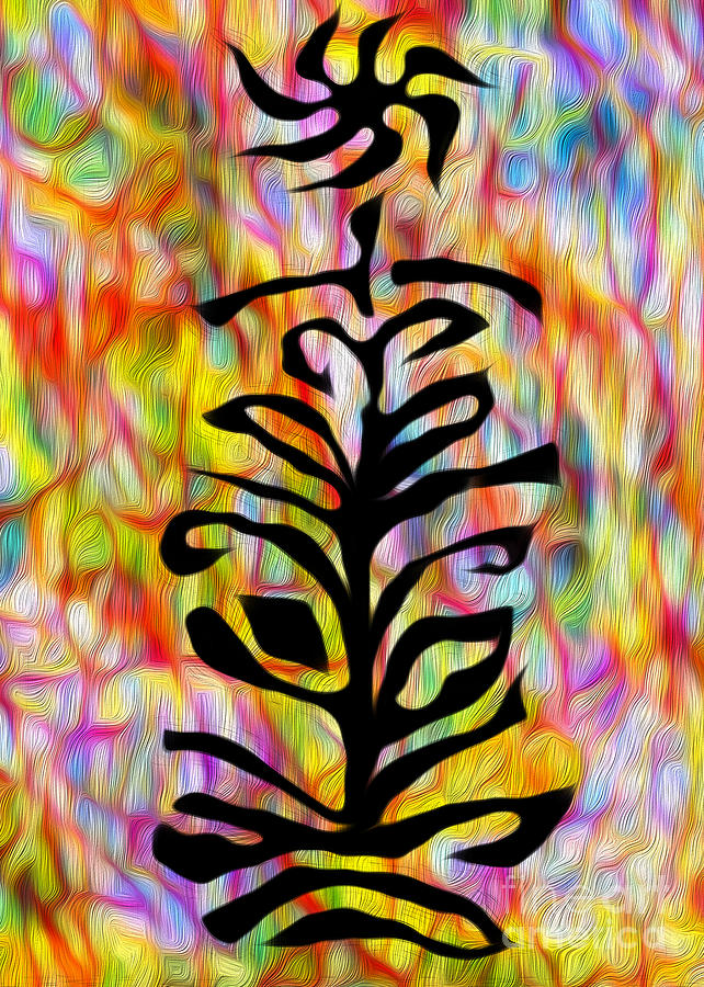 Abstract Painting - Flower Abstraction by Gregory Dyer