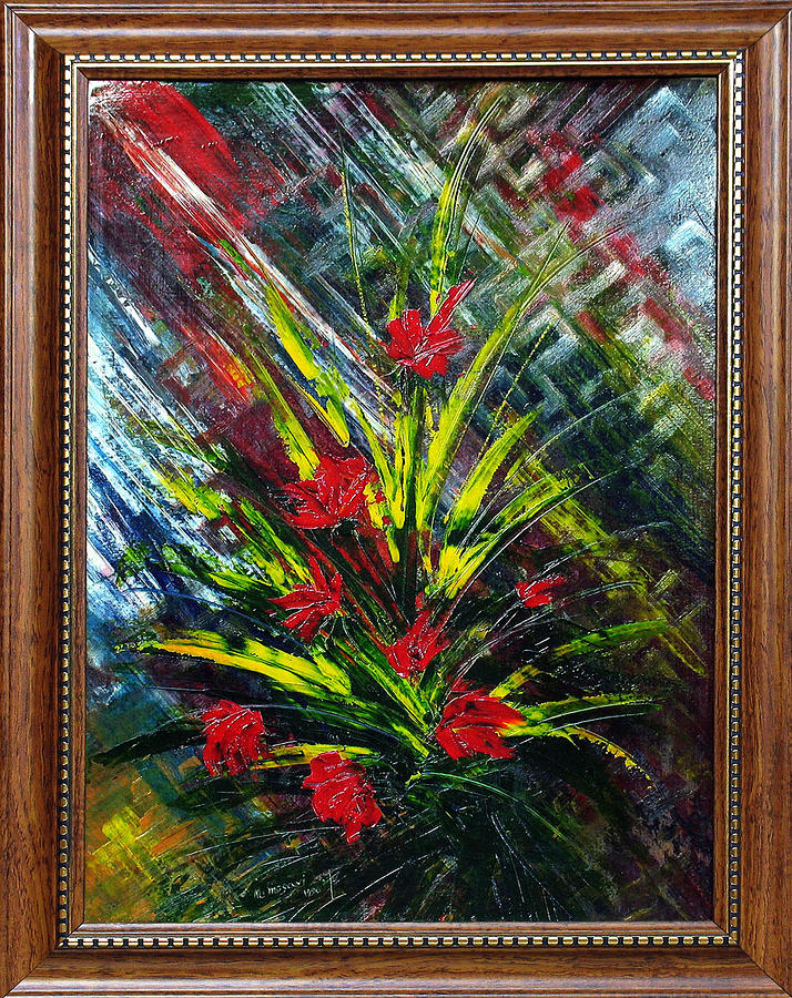 Flower Painting by Mohsen Mousavi