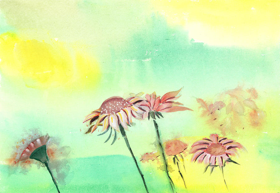 House Painting - Flowers 2 by Anil Nene