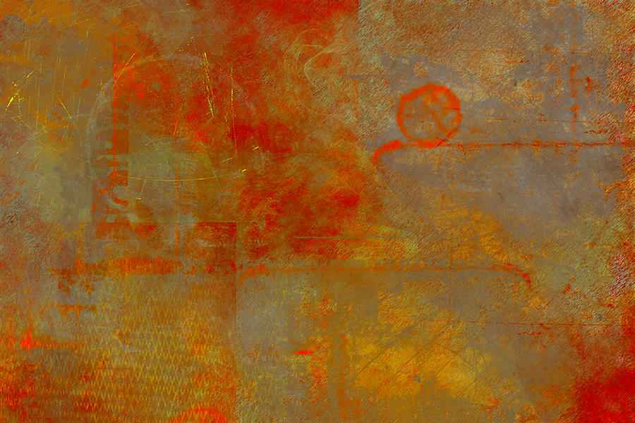Fluorescent Painting - Fluorescent Rust by Christopher Gaston