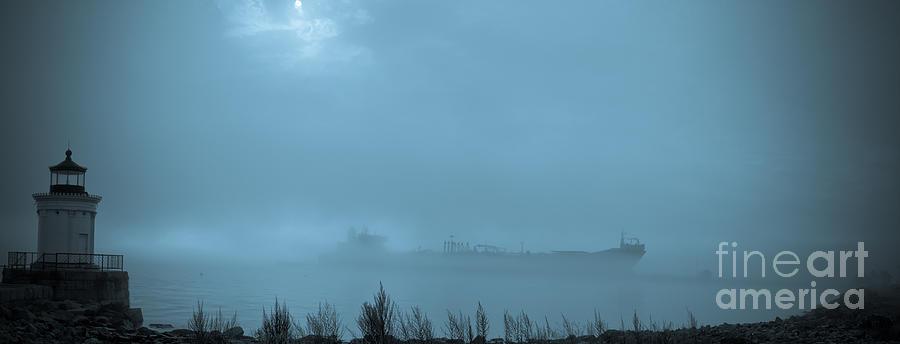 Boat Photograph - Foggy Morn by David Bishop