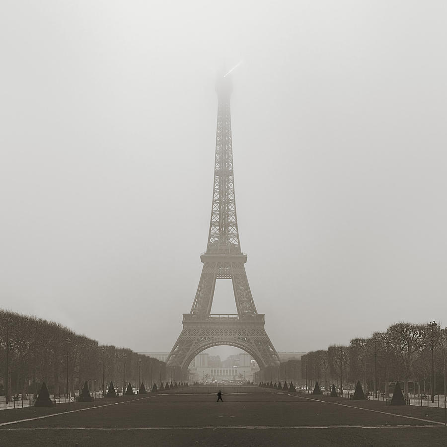 Metro Photograph - Foggy Morning In Paris by Metro DC Photography
