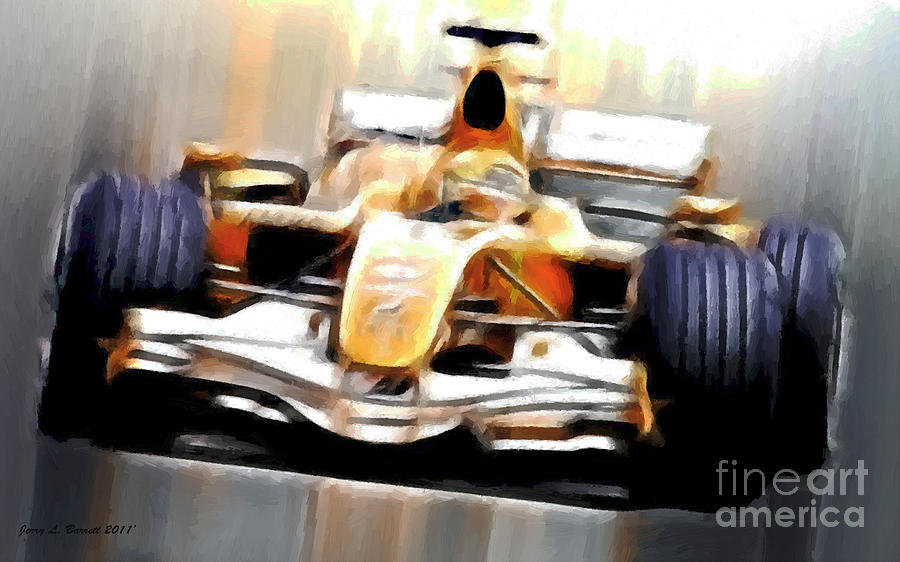 Formula One Car Mixed Media - Formula One by Jerry L Barrett