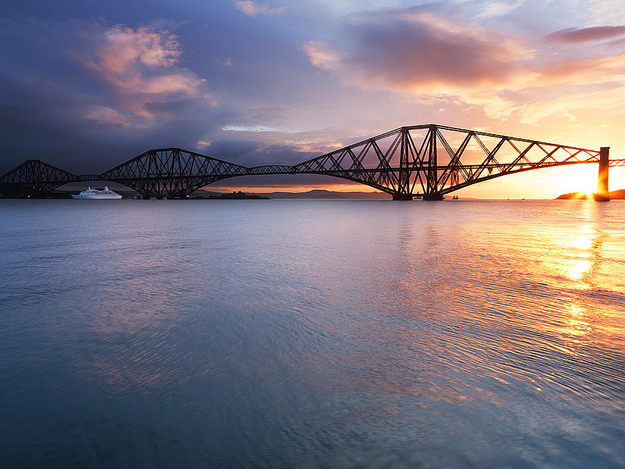 South Queensferry Photograph - Forth Sunrise by Keith Thorburn LRPS AFIAP CPAGB