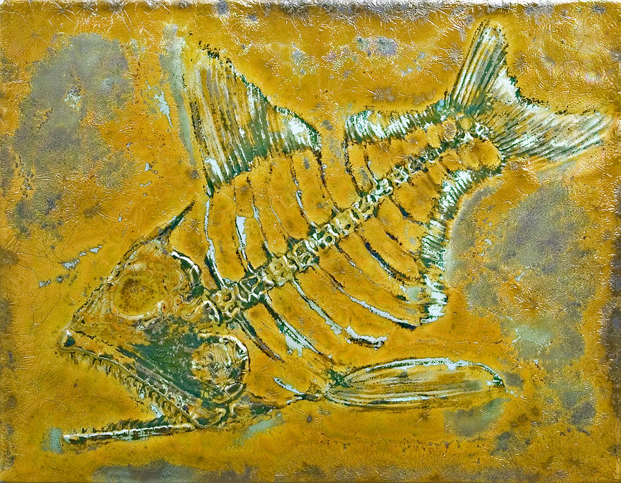 Fish Ceramic Art - Fossil Fish by Bruce Gholson