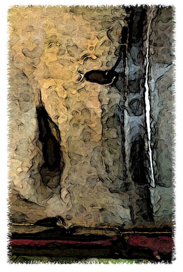 Abstract Digital Art - Fossilties by Brenda Leedy