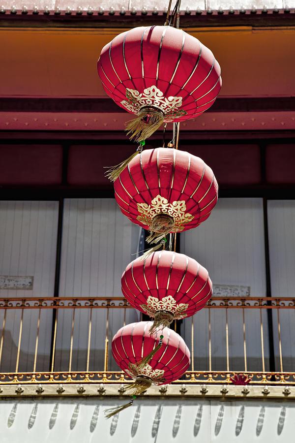 Chinese Lanterns Photograph - Four Lanterns by Kelley King