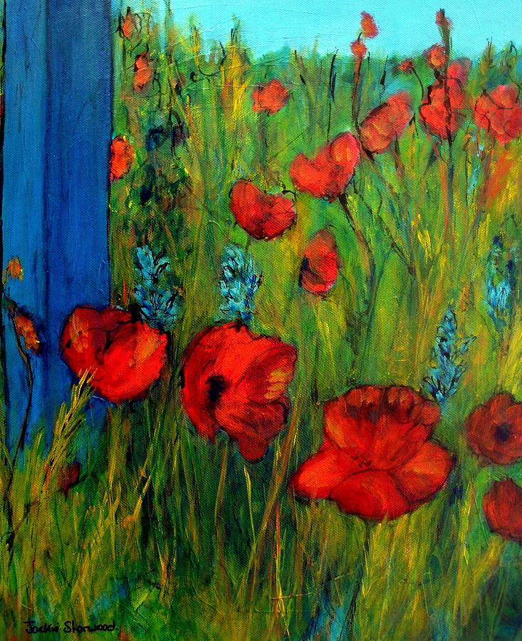 French poppies painting by jackie sherwood flowers painting french poppies by jackie sherwood mightylinksfo