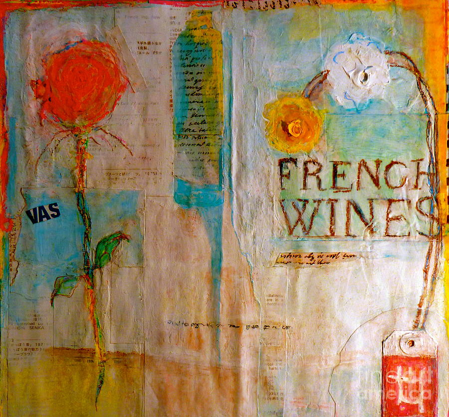 Abstract Painting - French Wines II by Nancy Belle