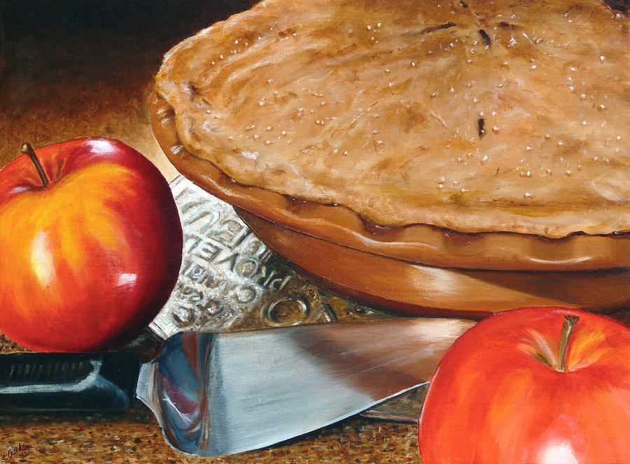 Fresh Apple Pie Painting By Angela Johnson