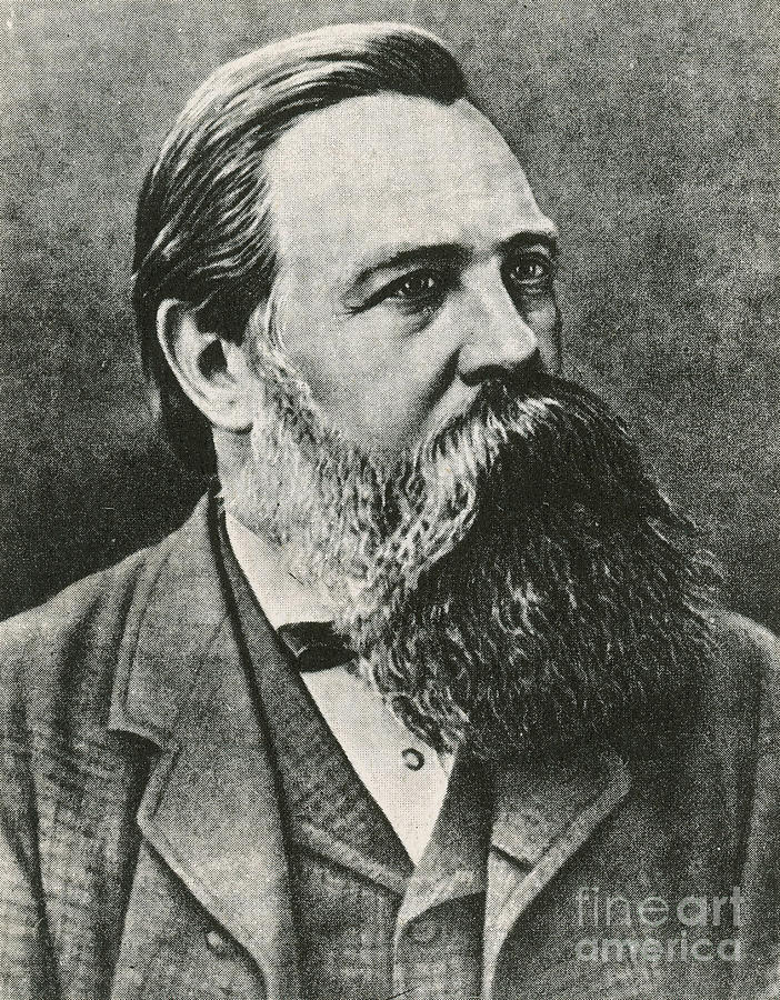 Friedrich Engels German Philosopher Photograph By Photo