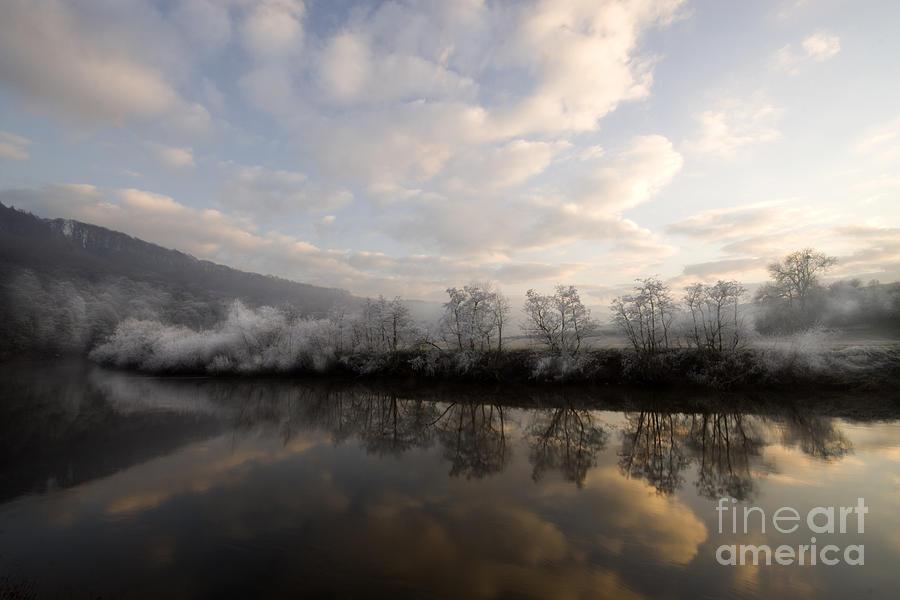 Wye Photograph - Frosty Evening by Angel Ciesniarska