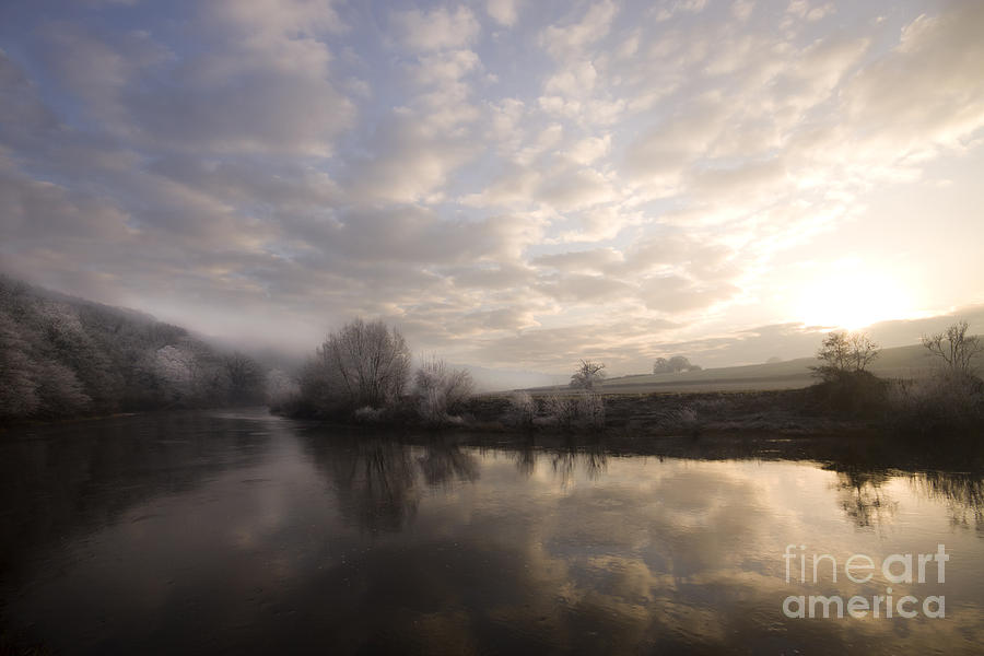Wye Photograph - Frosty Morning by Angel Ciesniarska