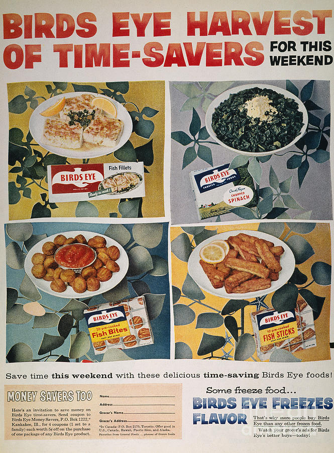 -domestic- Photograph - Frozen Food Ad, 1957 by Granger