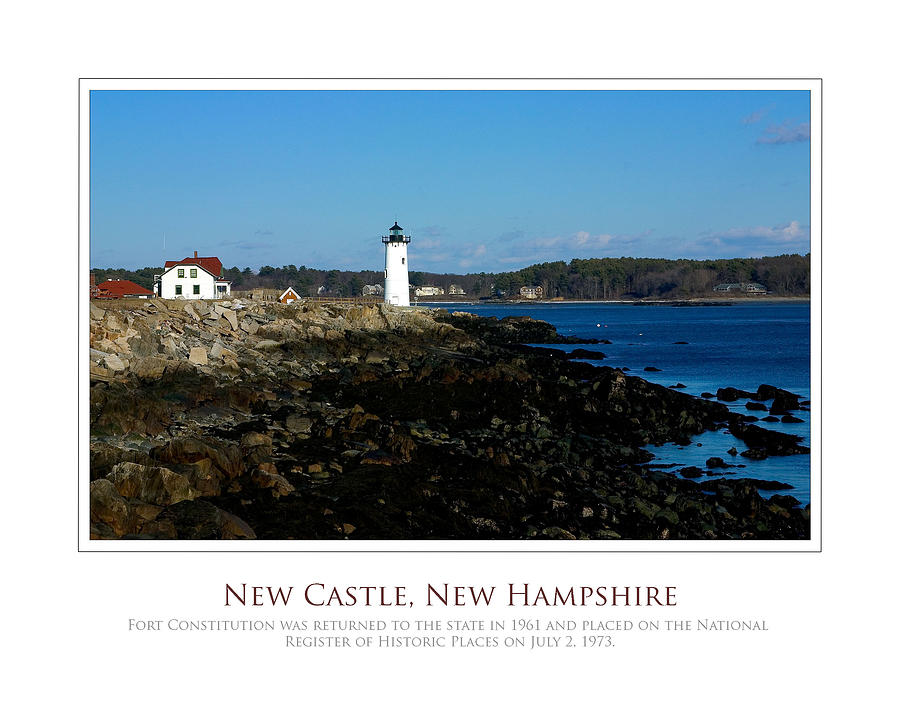 New Castle Photograph - Ft Constitution - Nh Seacoast by Jim McDonald Photography