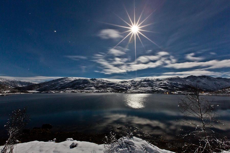 Moon Photograph - Full Moon by Frank Olsen