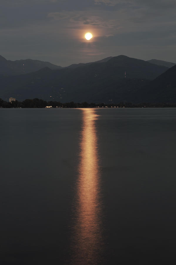Lake Maggiore Photograph - Full Moon by Joana Kruse
