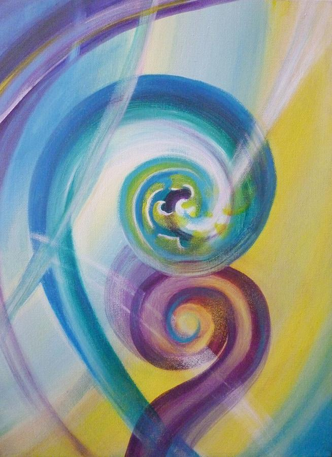 Abstract Painting - Fusion by Reina Cottier
