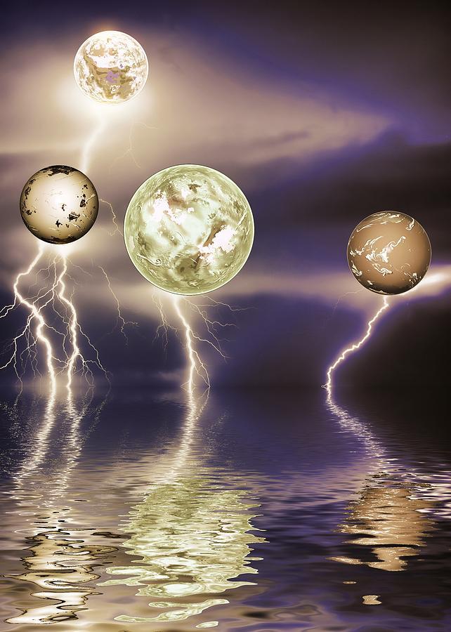 Storms Digital Art - Galactic Storm by Sharon Lisa Clarke