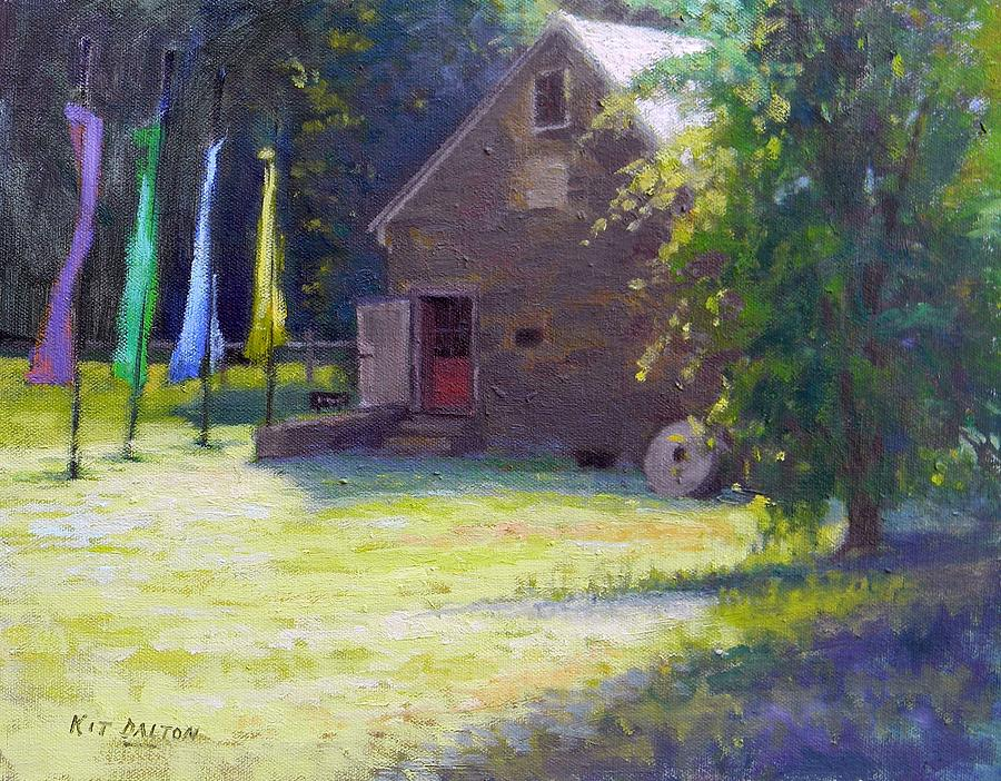 Prallsville Mill Painting - Gallery At Prallsville Mill by Kit Dalton