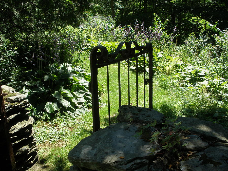 Gate Photograph - Gate To The Garden by Suzanne Fenster