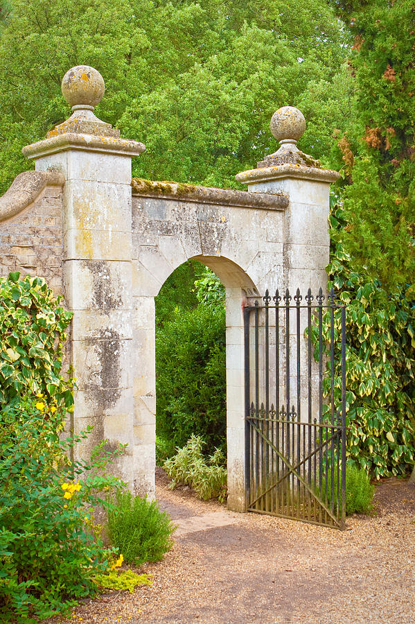 Antique Photograph - Gate by Tom Gowanlock
