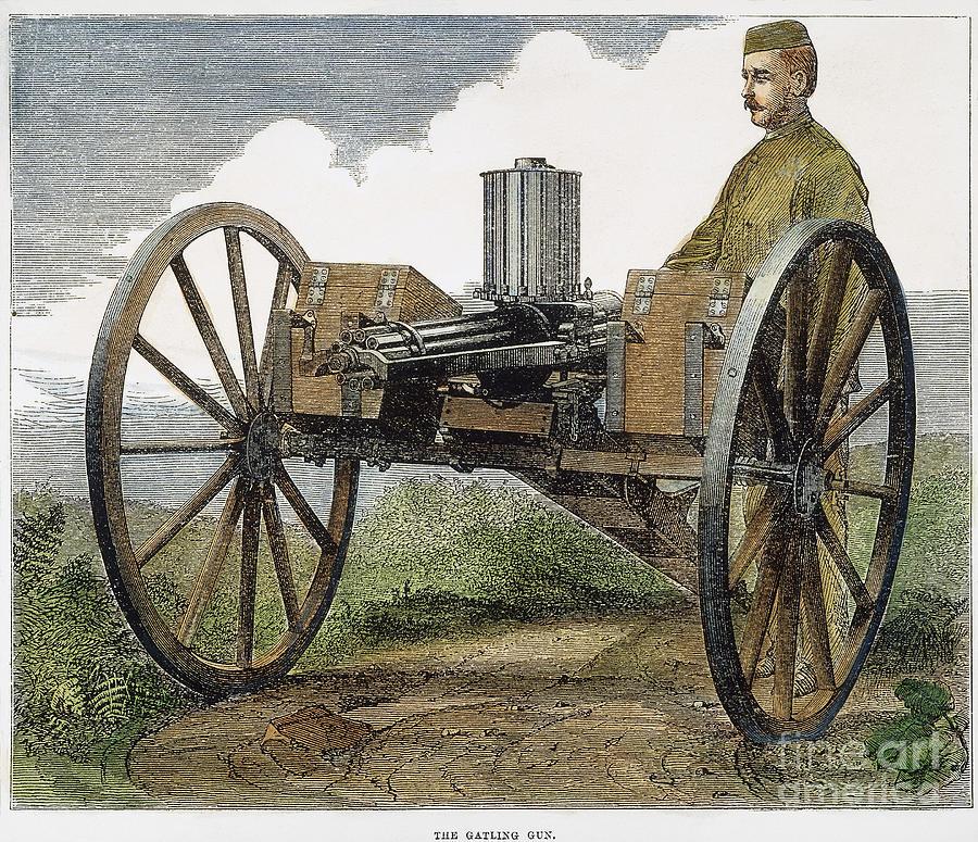 1872 Photograph - Gatling Gun, 1872 by Granger